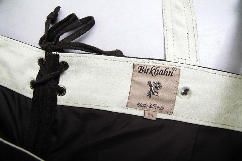 Vintage Men Brown Leather Oktoberfest Overalls  Trachten Dirndl Bavarian Overalls  Suede Overalls Traditional Ethnic Men Size 56 overalls