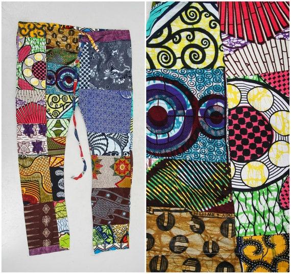 Vintage Patchwork Pants / Colorful Pants / Hippie… - image 1