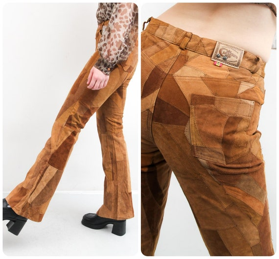 Vintage Brown Pants / Rare Patchwork Pants / Genui