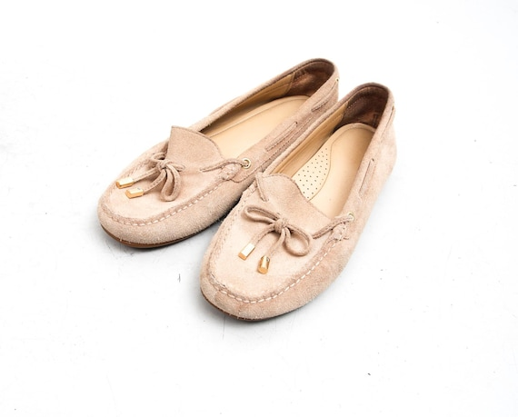 Michael Kors Moccasins / Beige Moccasins With Ribb
