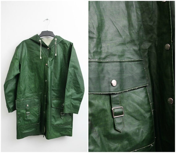 Vintage Rukka Raincoat / Size 38 Raincoat / Hooded