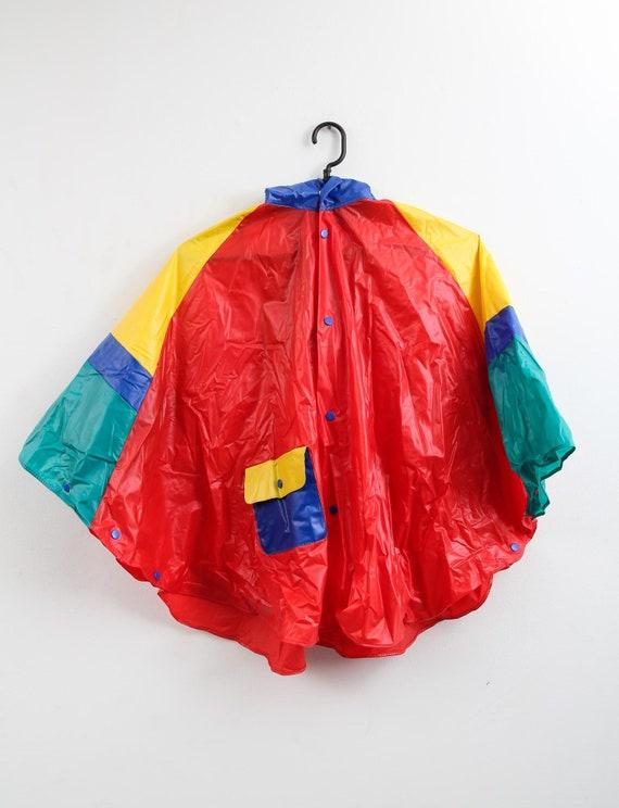Vintage Colourful Raincoat / Children Raincoat / … - image 3