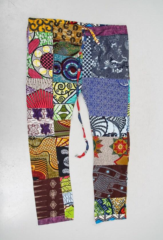 Vintage Patchwork Pants / Colorful Pants / Hippie… - image 2
