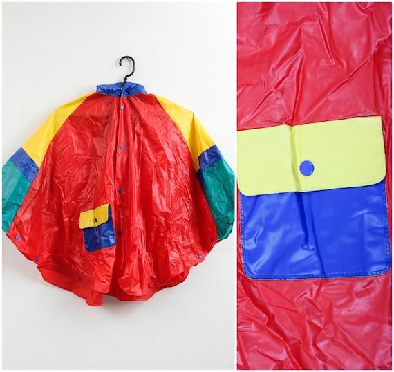 Vintage Colourful Raincoat / Children Raincoat / … - image 1