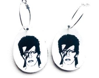 Pendientes rayo rel/ámpago Destellos de colores Regalo joyer/ía para ella Pendientes David Bowie Rayo Colgantes Joyas Ziggy Stardust