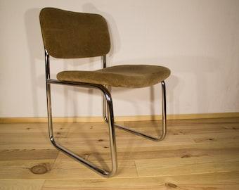 Timelessly beautiful Tubular Steel Chrome Design Chair by CASALA Vintage Old School / Minimalistischer Stahlrohr Rahmen Designer Stuhl 70er