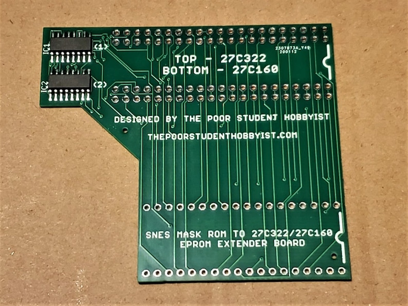 27C322/27C160 to SNES Extended Adapter Board image 0