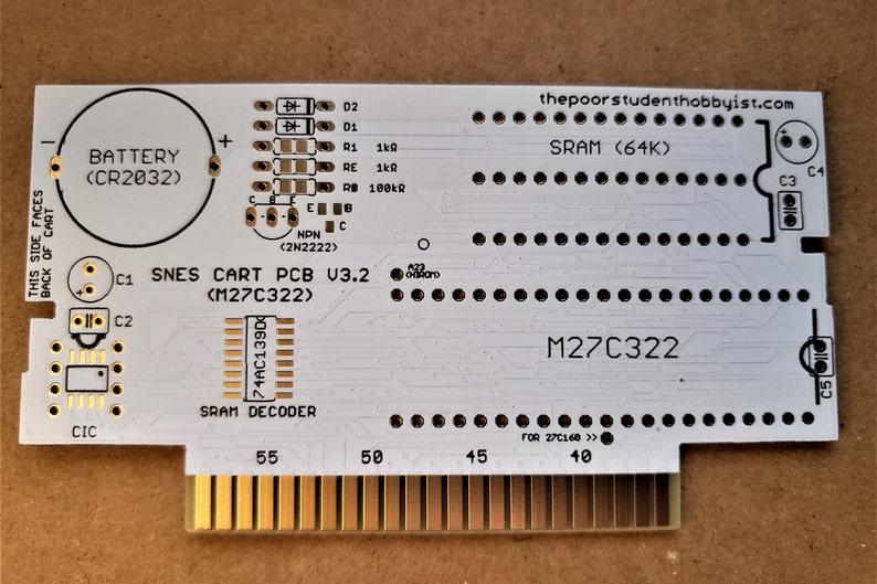 Make SNES Games Reproduction PCB  27C322 image 0