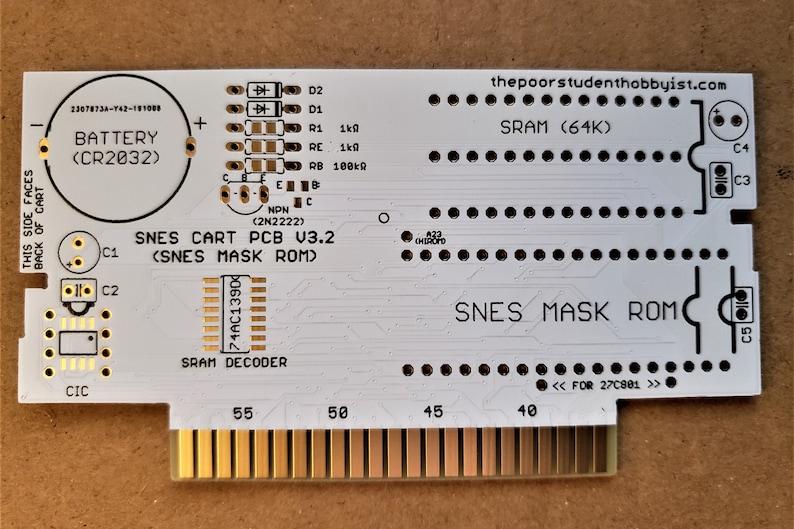 Make SNES Games Reproduction PCB  Mask ROM Pinout image 0