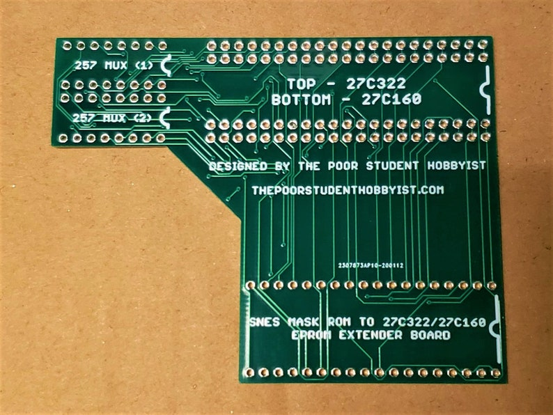 27C322/27C160 to SNES Extended Adapter Board No Multiplexers image 0
