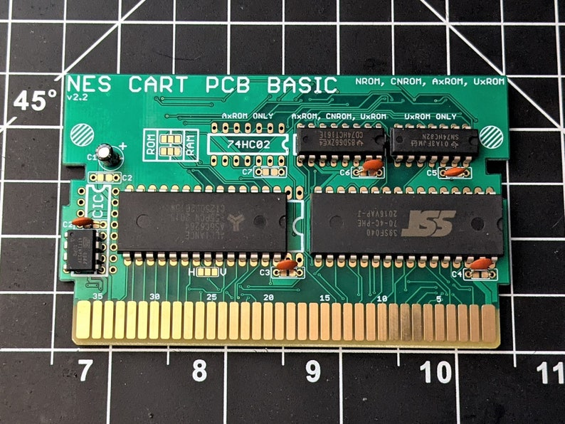 NES Cartridge Circuit Board  Basic UxROM