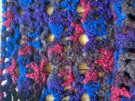 Vintage 70's Hippie Hand Crochet Sweater Vest. Ha… - image 8