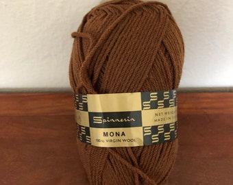 Brown Wool Yarn Skein Punch Needle Yarn 100/% Wool 90 Yards Medium Brown Hand Dyed Yarn 58 Bulky 56 Grams