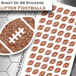 Planner Stickers - Football EC Planner Stickers - Football Planner Stickers - Football Sticker Pack - Football Stickers