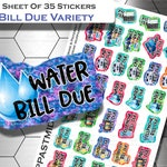 Planner Stickers - Bill Due Stickers - Bill Pay Stickers - Bill Due - Bill Stickers - Bill Payment