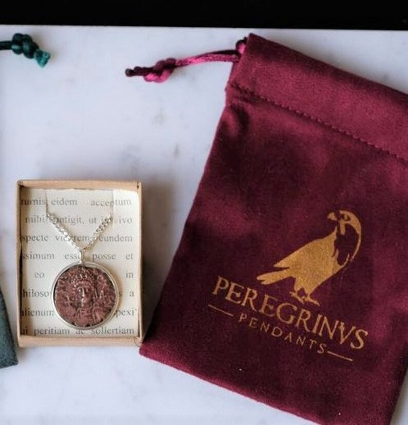 Custom Fitted Emperor Carus with Eagle ANCIENT ROMAN Vintage Coin Necklace about 1700 Yrs Old