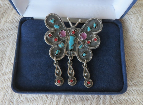 925 Sterling Silver Mexico brooch/pendant -natural