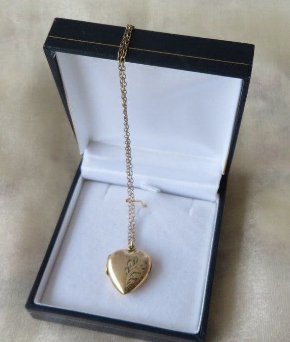 Antique Rolled Gold Double Picture Locket with original chain