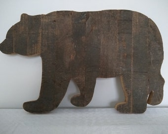 Bear and Deer Cutout Bear cutout Tennessee Cutout Barnwood Tennessee Sign