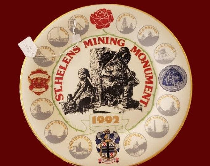 Helen\u2019s Mining Monument Plate VTG 1992 Commemorative St