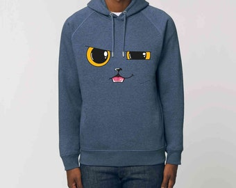 Organic Cotton Steet cat hoodie sweatshirt