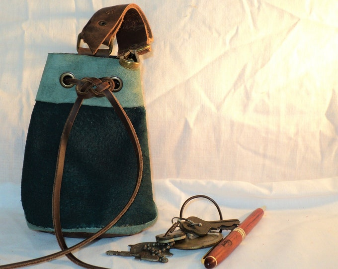 Custom Suede Leather Drawstring Pouch; Medieval Renaissance Coin Satchel; Dice Bag; Many Colors Available; Medium;Personalization Available