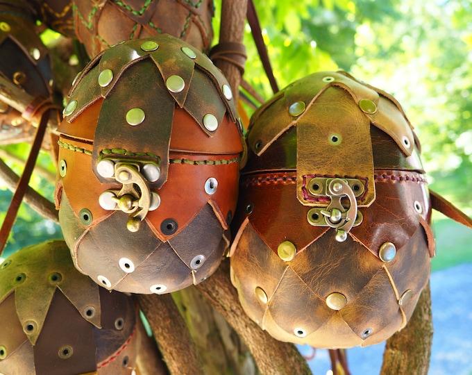 Leather Dragon Egg Purse; Dragon Egg Dice Bag; Egg Coin Pouch