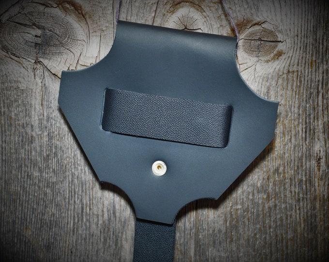 Black Leather Sword Dagger Frog; Tool Belt; Sword Axe Belt Hanger Dagger Frog; LARP Sword Belt Hanger; Renfaire Weapon Belt