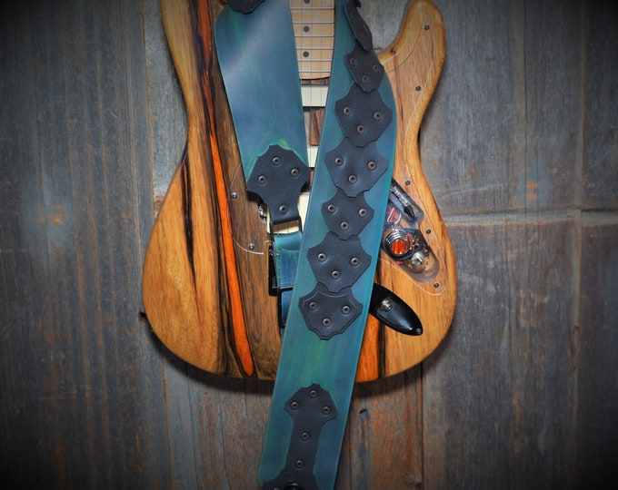 Custom Handmade Leather Guitar Strap; Price varies based on complexity of design and options; Guitar not included ;)