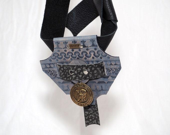 Greek Themed Leather Sword Belt Hanger; Belt Loop; Tool Belt; Sword Axe Belt Hanger; Dagger Frog; LARP Sword Belt Hanger; Renfaire Weapon
