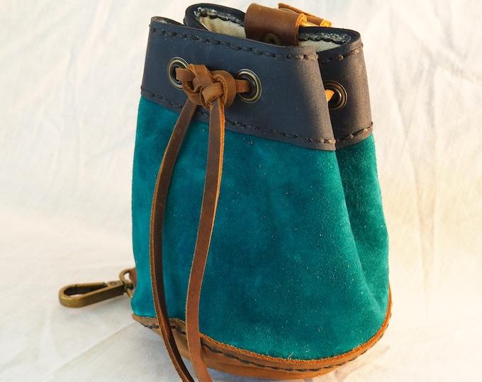 Leather Drawstring Perfect Pouch: Masterwork Version; Dice Bag, Coin Satchel; RenFaire LARP Purse; Personalization Available