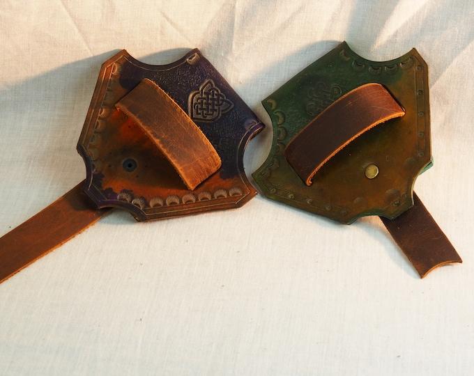 Custom Leather Sword Belt Hanger; Belt Loop; Tool Belt; Sword Axe Belt Hanger; Dagger Frog; LARP Sword Belt Hanger; Renfaire Weapon