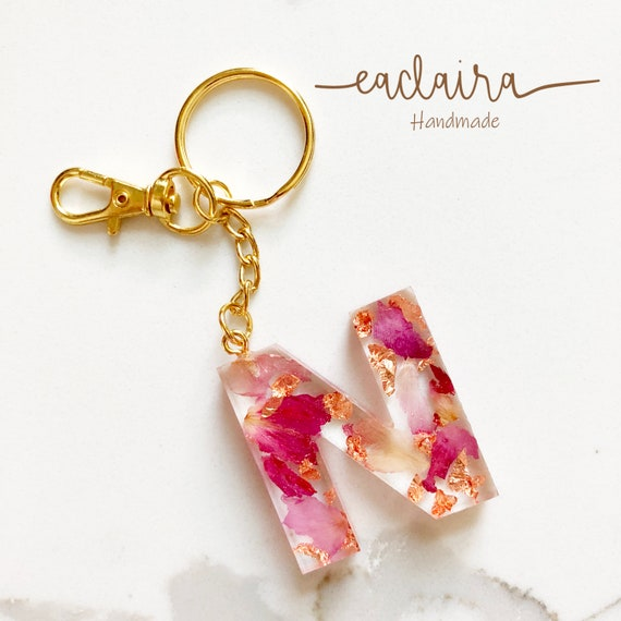 Floral Resin Keychain