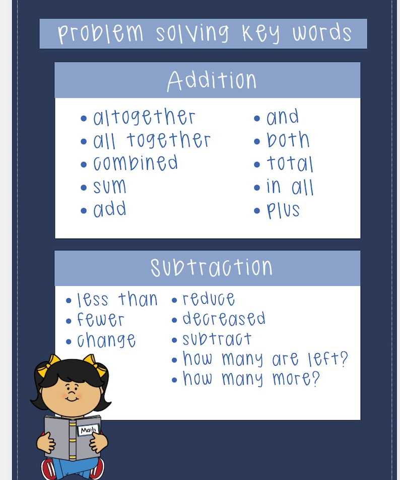 Lovely Keywords For Addition Subtraction Multiplication ...