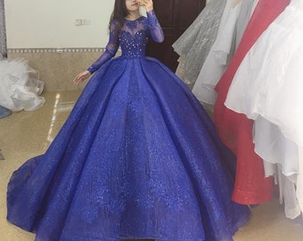 Royal Blue Ball Gown Etsy