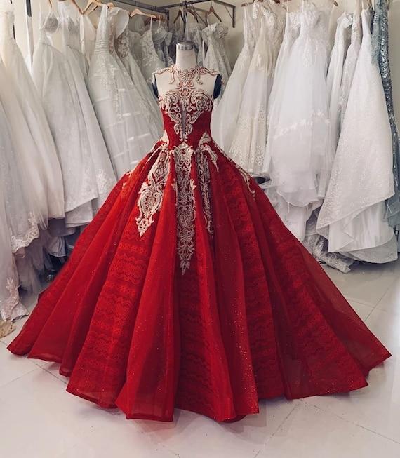 Rotes kleid hochzeit Red Maxi