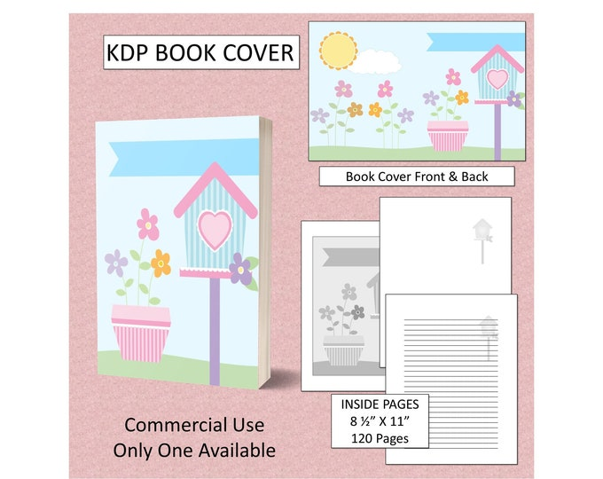 Spring Premade Book Cover For KDP Book Cover Template KDP Cover Digital Book Covers Amazon KDP Book Covers Commercial Use