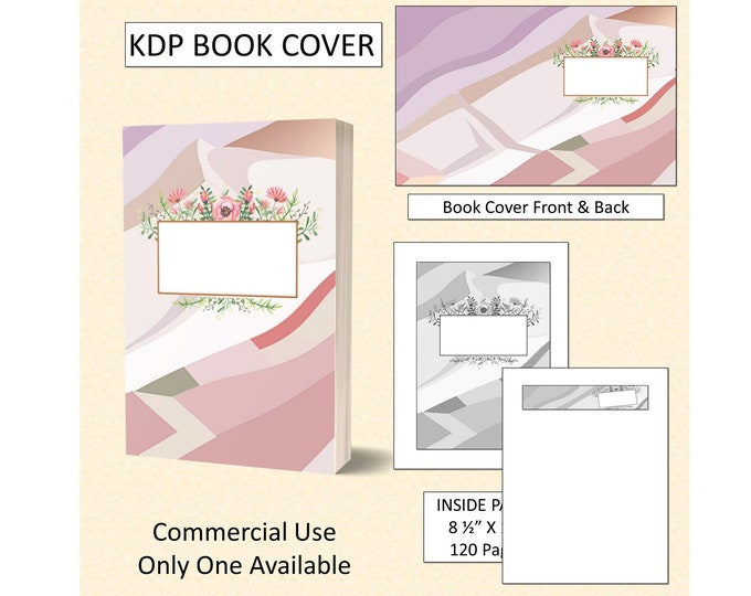 Abstract Pastel Shades Floral Book Cover Design