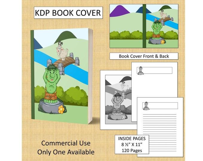 Kids Troll Scene Book Cover Design KDP Book Cover Kindle Cover Template KDP Cover Premade Book Covers Amazon KDP Book Covers Digital Cover