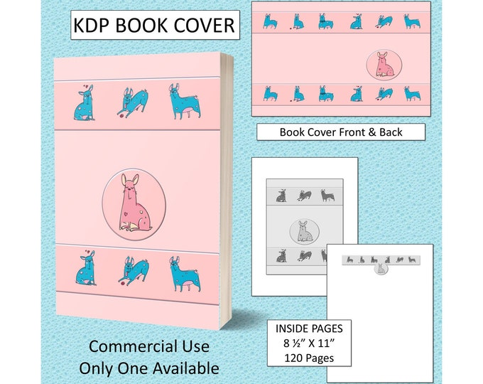 Funny Pastel Pink Bull Dog Book Cover Design