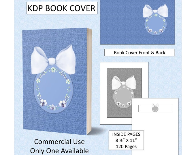 Blue Bow Floral Book Cover