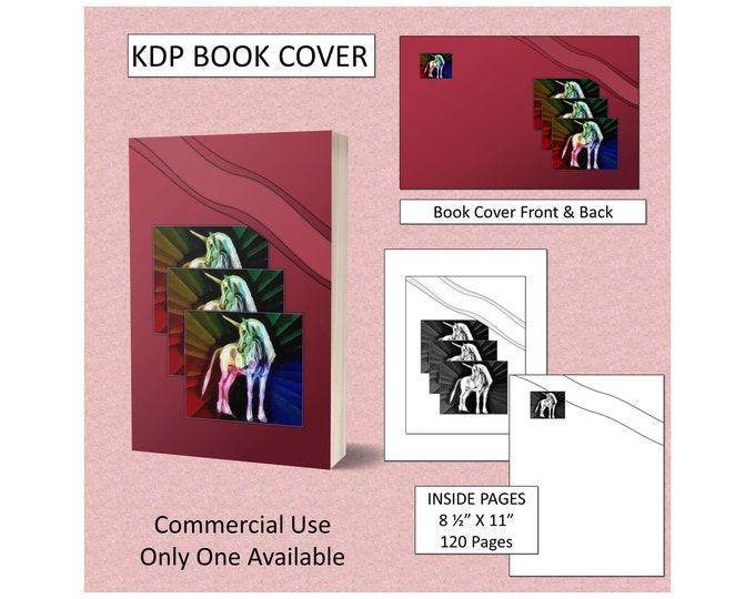 Colorful Unicorn Book Cover Design