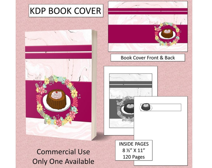 Pretty Cake Cover Design KDP Book Cover Kindle Cover Template KDP Cover Premade Book Covers Amazon KDP Book Covers Digital Cover