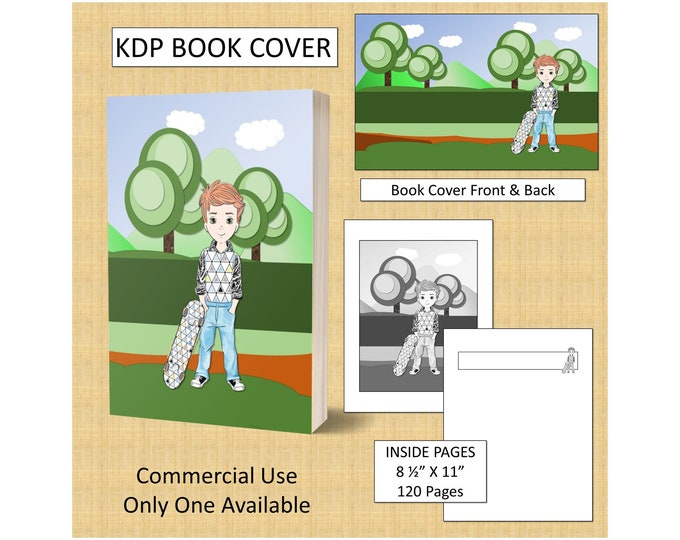Boy Kids Cover Design KDP Book Cover Kindle Cover Template KDP Cover Premade Book Covers Amazon KDP Book Covers Digital Book Cover