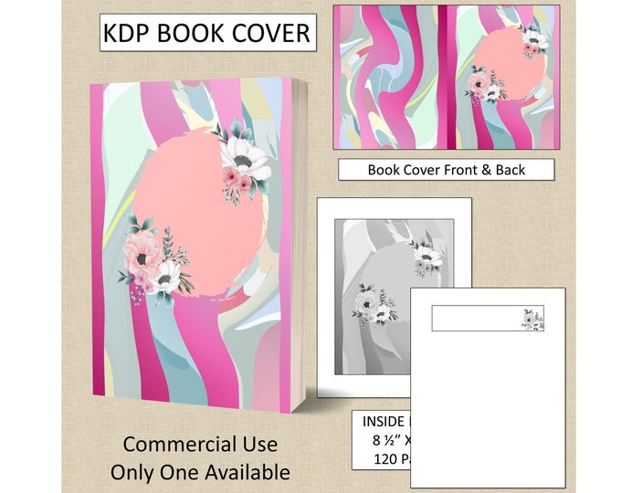 Colorful Floral Cover KDP Book Cover Kindle Cover Template KDP Cover Premade Book Covers Amazon KDP Book Covers Digital Book Cover