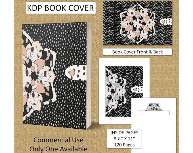 Beautiful Dot Pattern Book Cover Design Premade KDP Book Cover Kindle Cover Template KDP Cover Kindle Book Covers Amazon Digital Book Covers