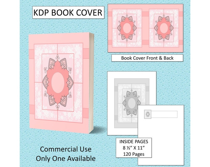 Pretty Peach Mandala Book Cover Design