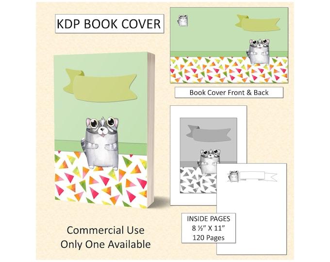 Cute Funny Cat Book Cover Design