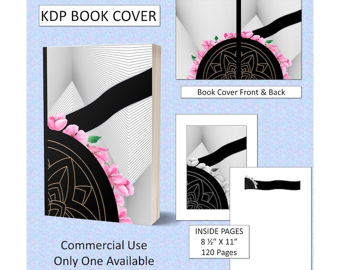 New-Age Mandala Floral Theme Book Cover Design