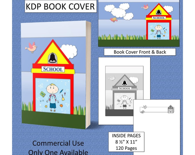 School KDP Book Cover Kindle Cover Template